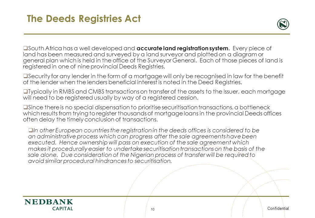 The Deeds Registries Act