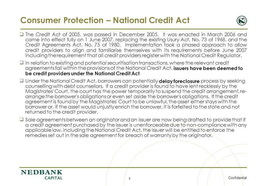 Consumer Protection – National Credit Act