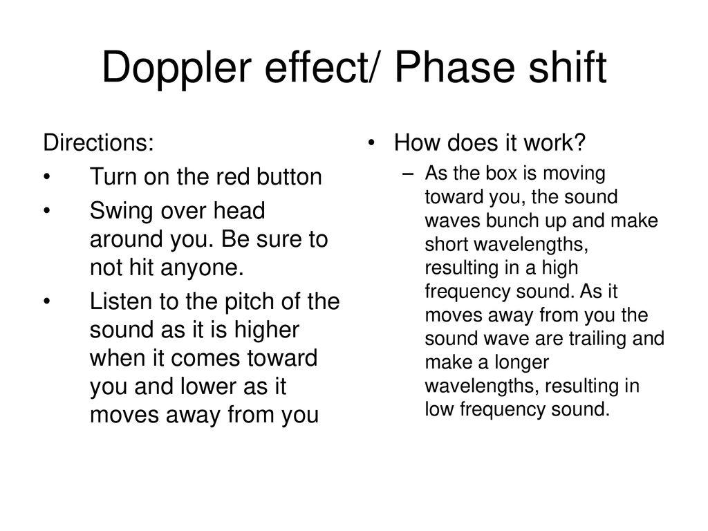 Doppler effect/ Phase shift - ppt download