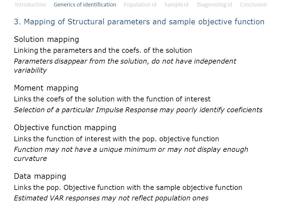 3. Mapping of Structural parameters and sample objective function