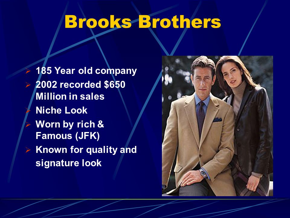 Brooks Brothers 185 Year old company