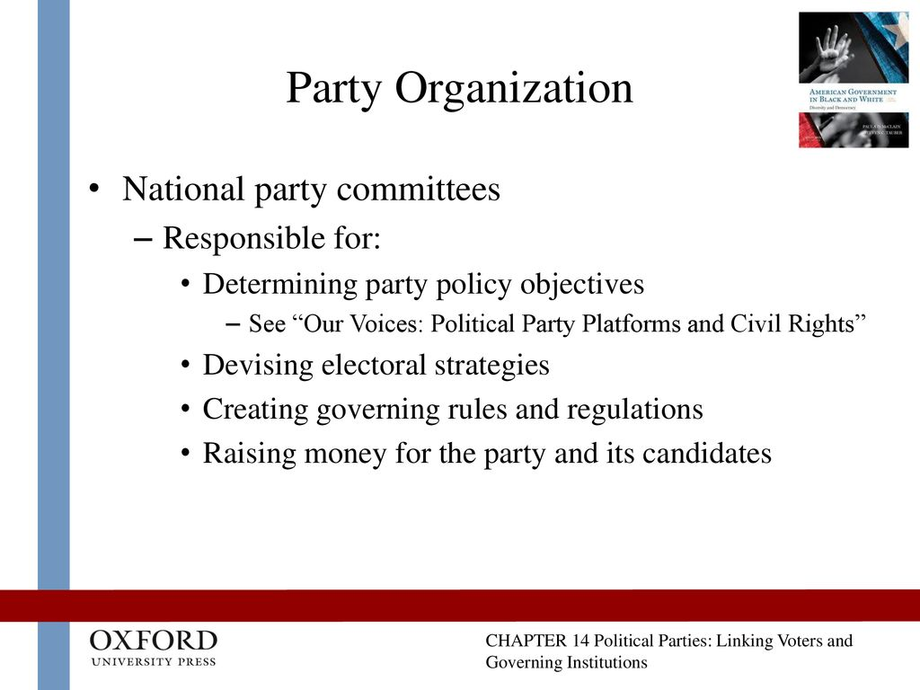 Political Parties: Linking Voters and Governing Institutions