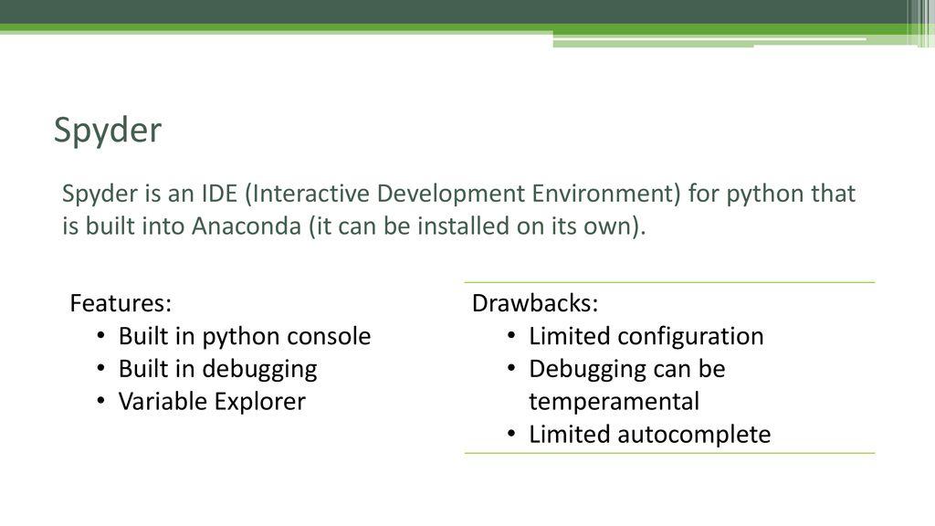 EMSE 6574 – Programming for Analytics: Python 101 – Python