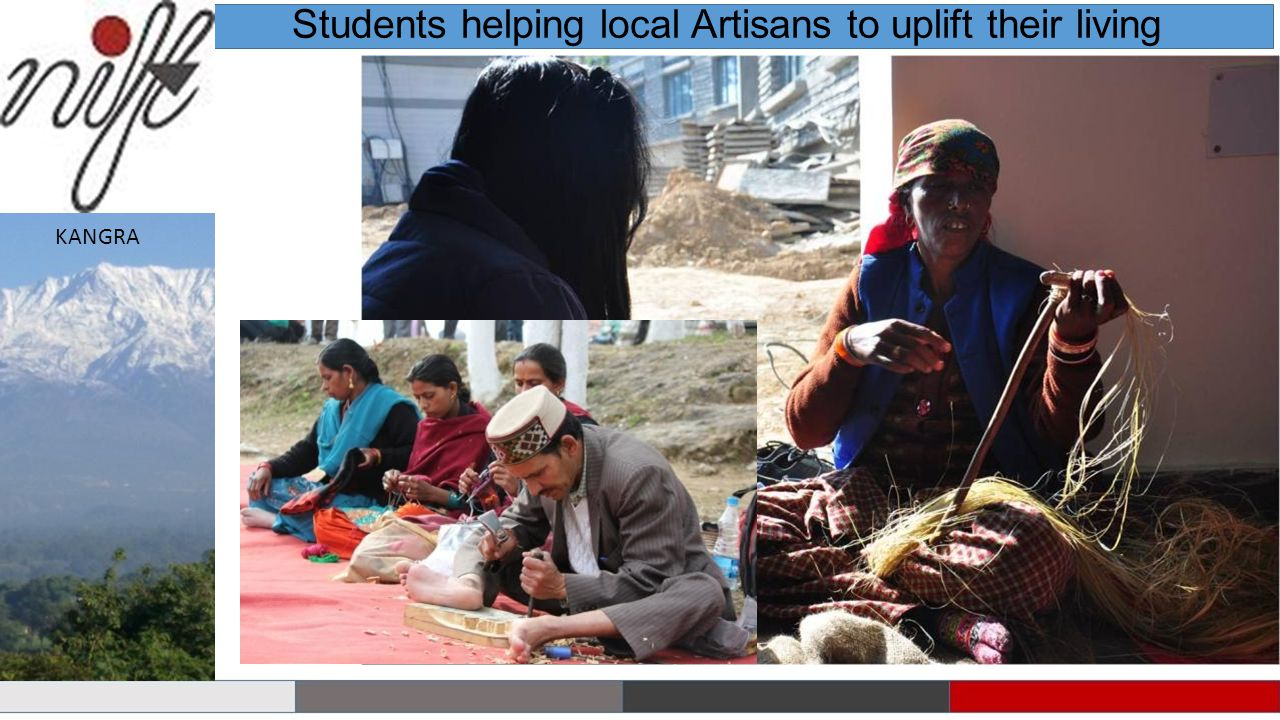 Students helping local Artisans to uplift their living