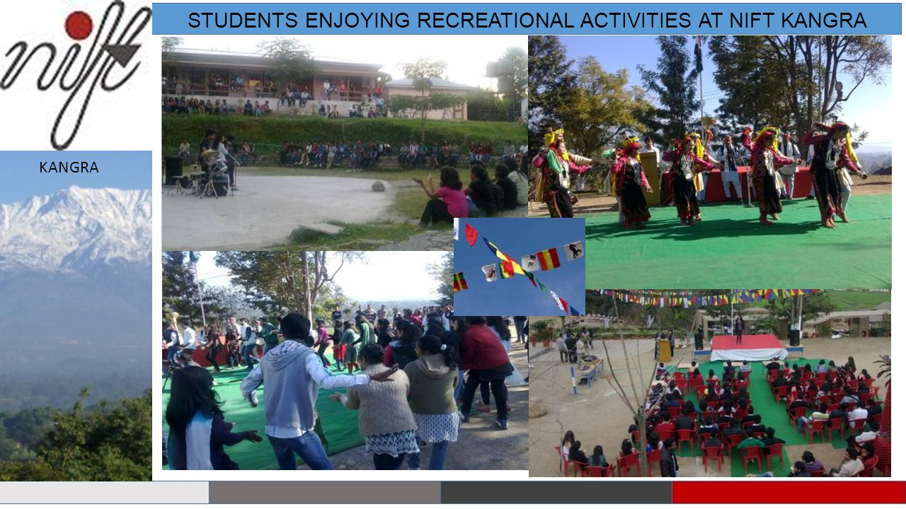STUDENTS ENJOYING RECREATIONAL ACTIVITIES AT NIFT KANGRA
