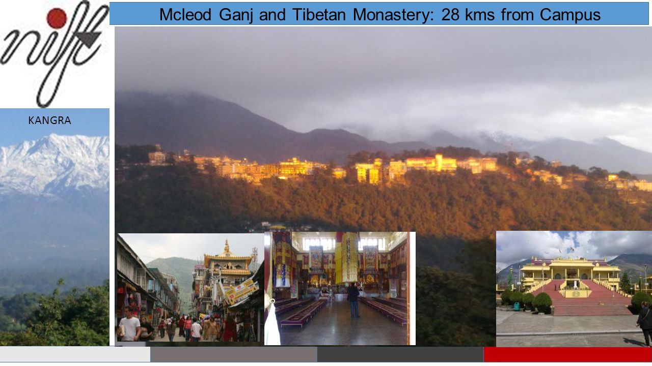 Mcleod Ganj and Tibetan Monastery: 28 kms from Campus