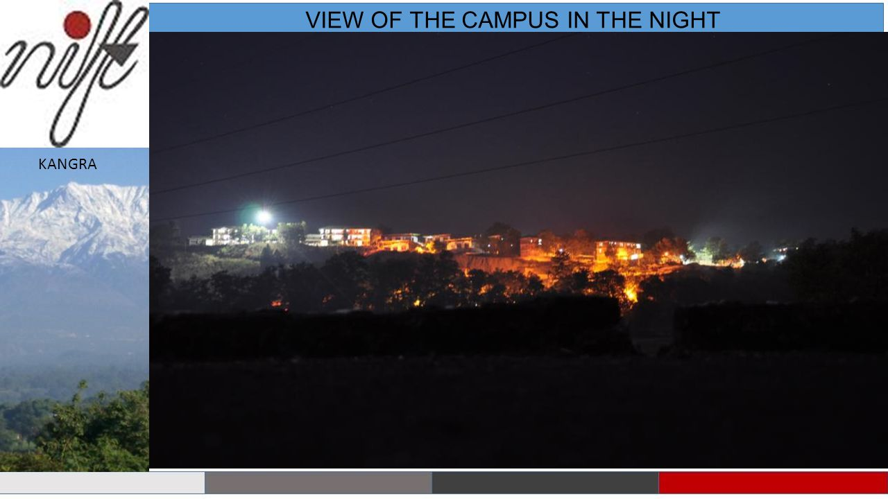 VIEW OF THE CAMPUS IN THE NIGHT