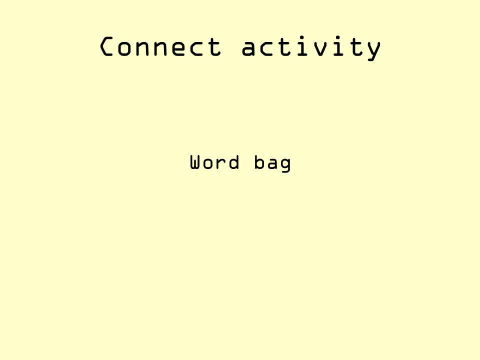 Connect activity Word bag
