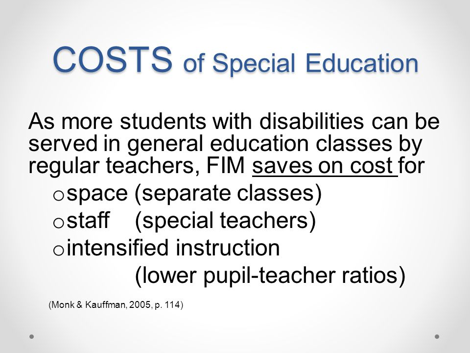 COSTS of Special Education