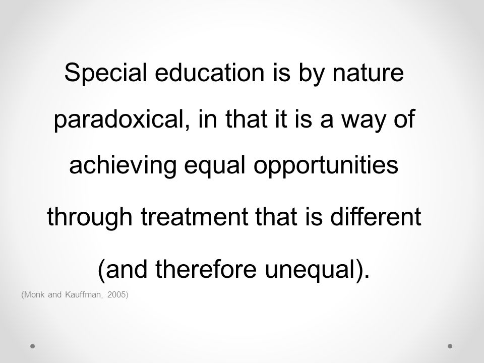 through treatment that is different (and therefore unequal).