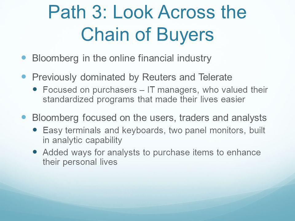 Path 3: Look Across the Chain of Buyers