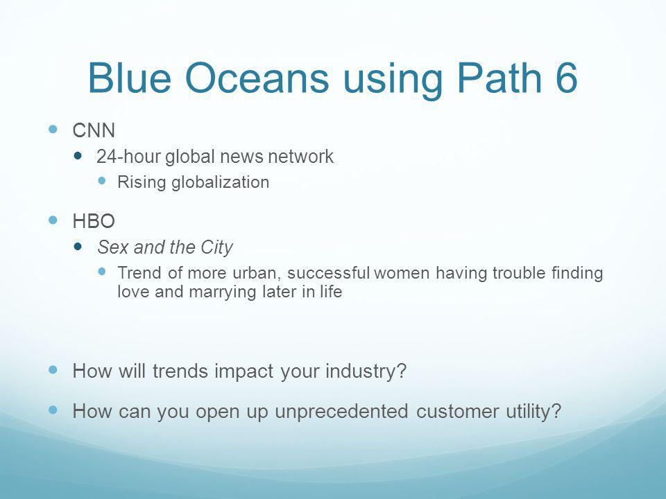 Blue Oceans using Path 6 CNN HBO How will trends impact your industry