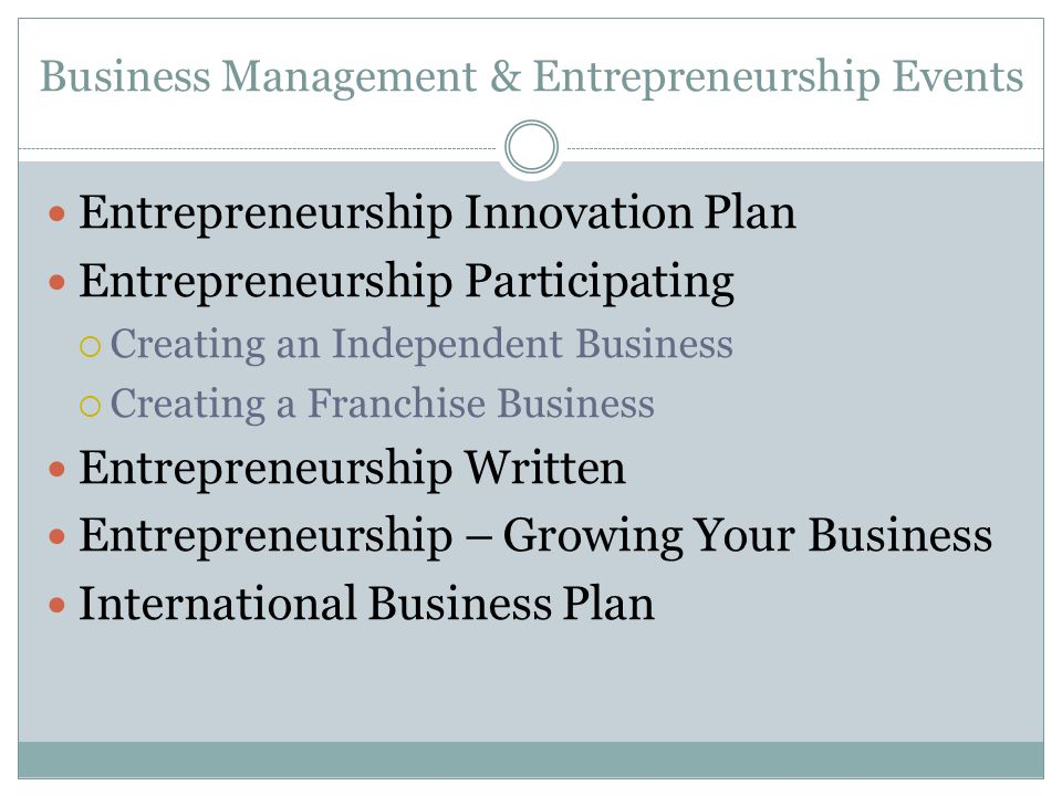 Business Management & Entrepreneurship Events