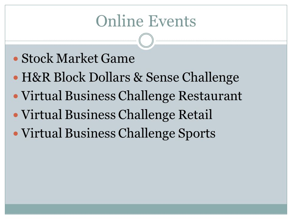 Online Events Stock Market Game H&R Block Dollars & Sense Challenge
