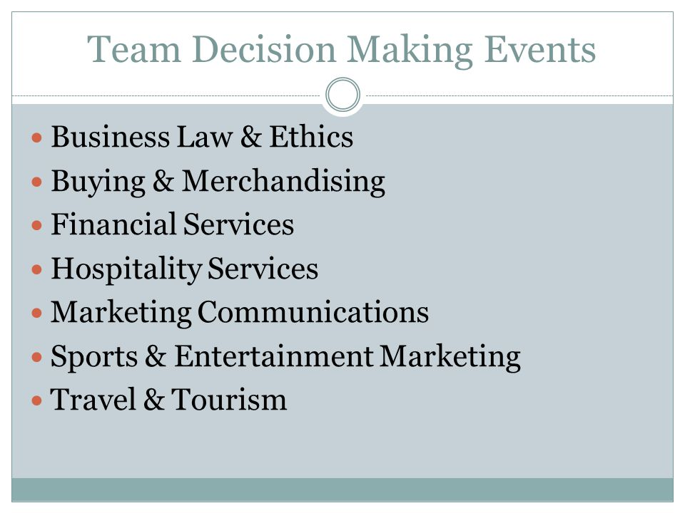 Team Decision Making Events