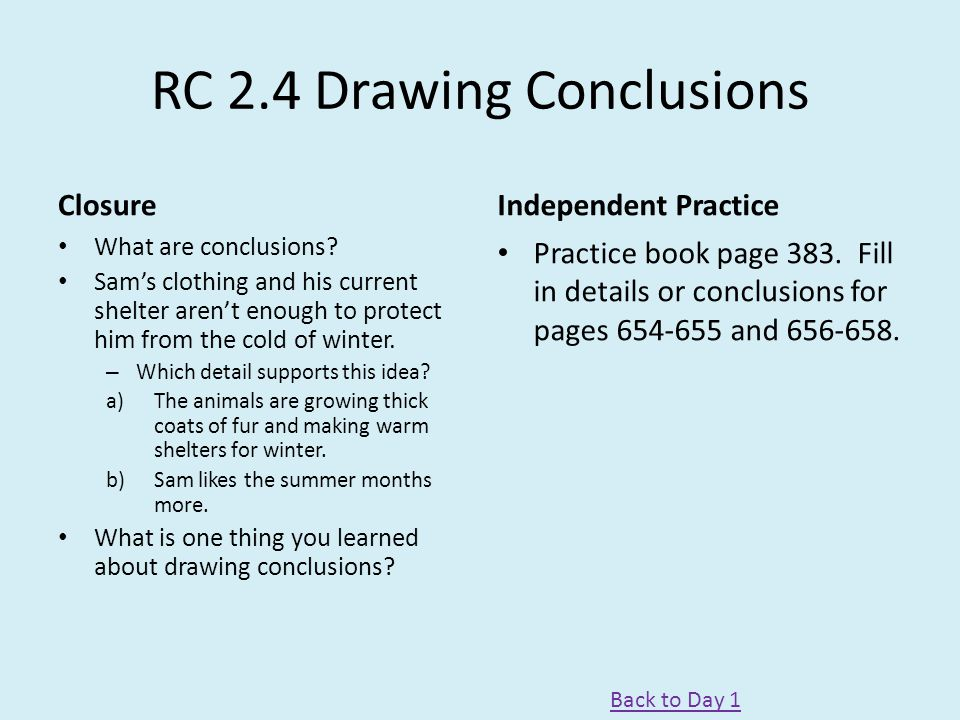 RC 2.4 Drawing Conclusions