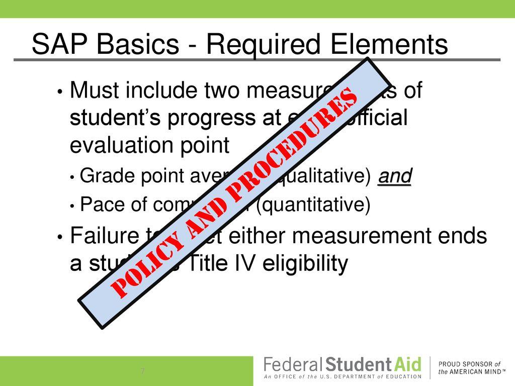 Satisfactory Academic Progress (SAP) - ppt download