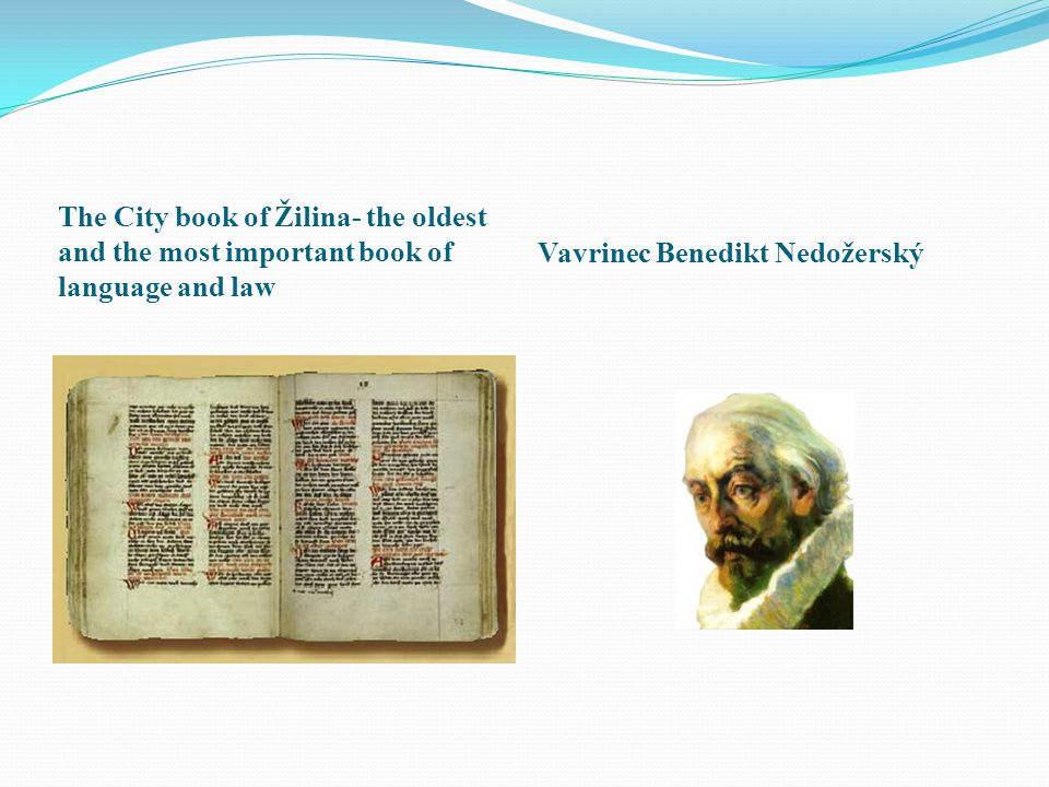 The City book of Žilina- the oldest and the most important book of language and law