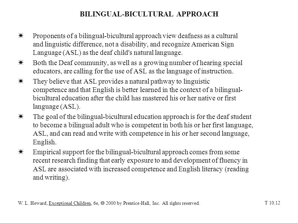 BILINGUAL-BICULTURAL APPROACH