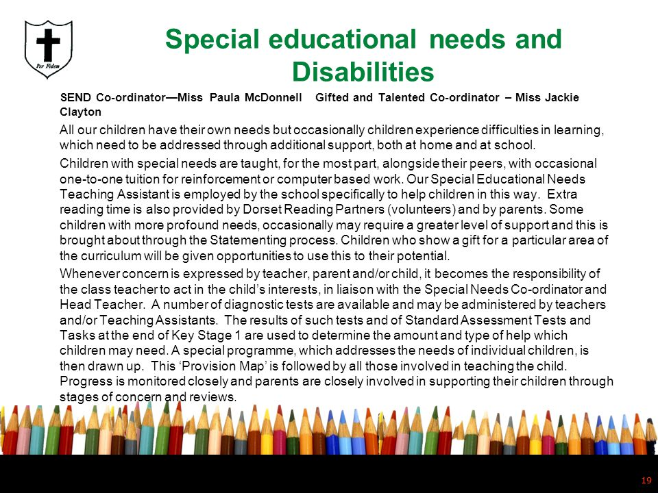 Special educational needs and Disabilities