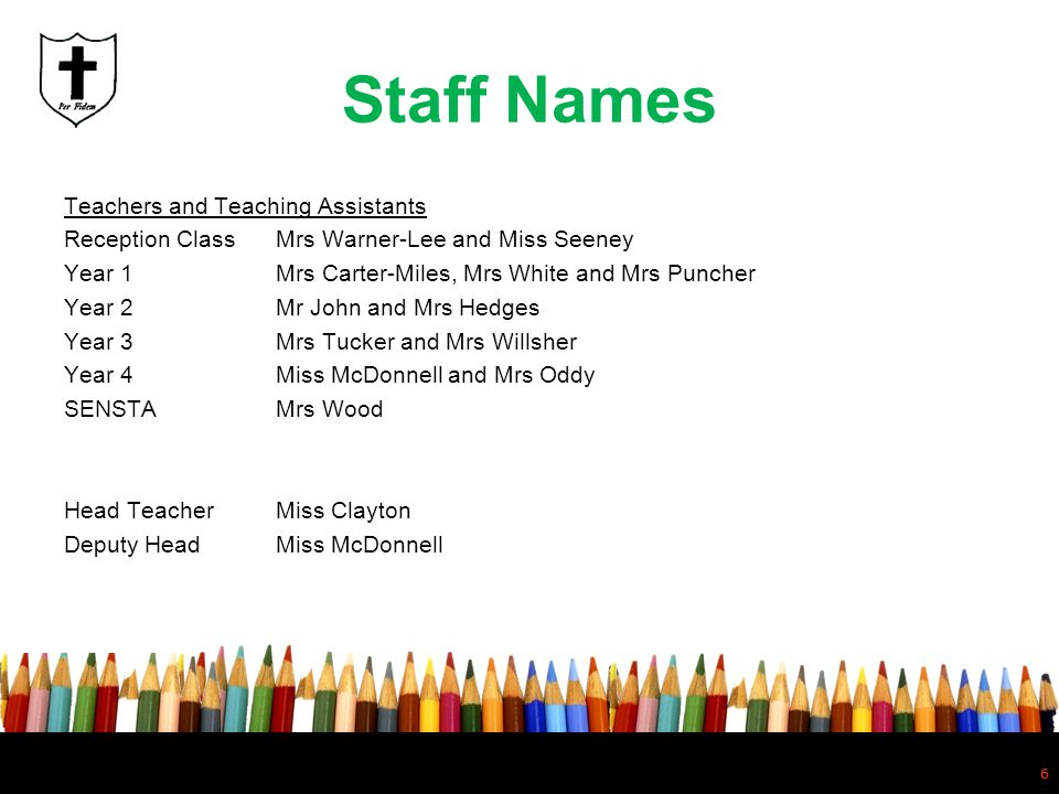 Staff Names