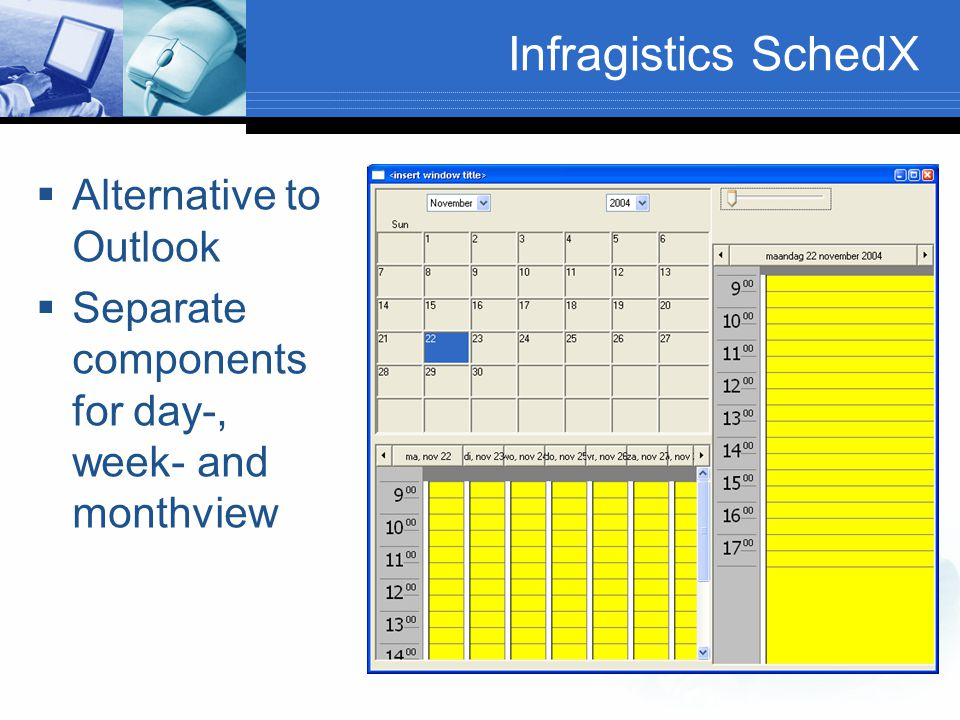 Infragistics SchedX Alternative to Outlook