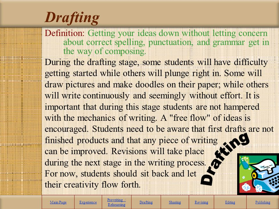 pre writing requires an mind