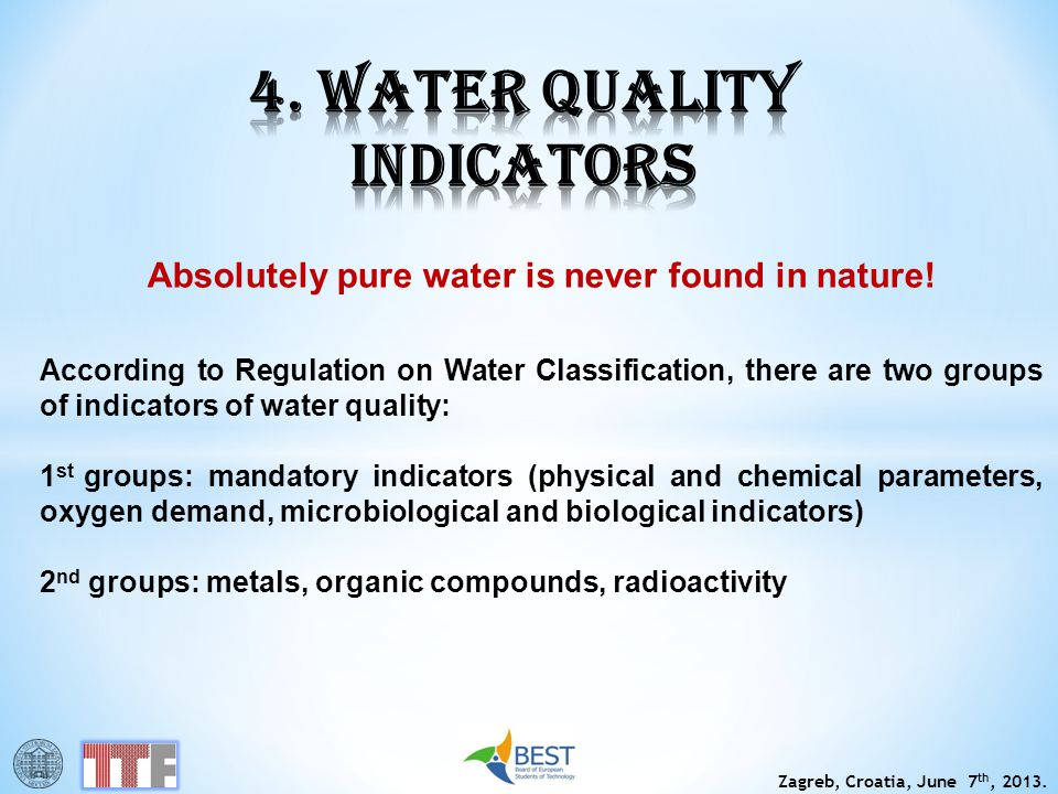 4. WATER QUALITY INDICATORS