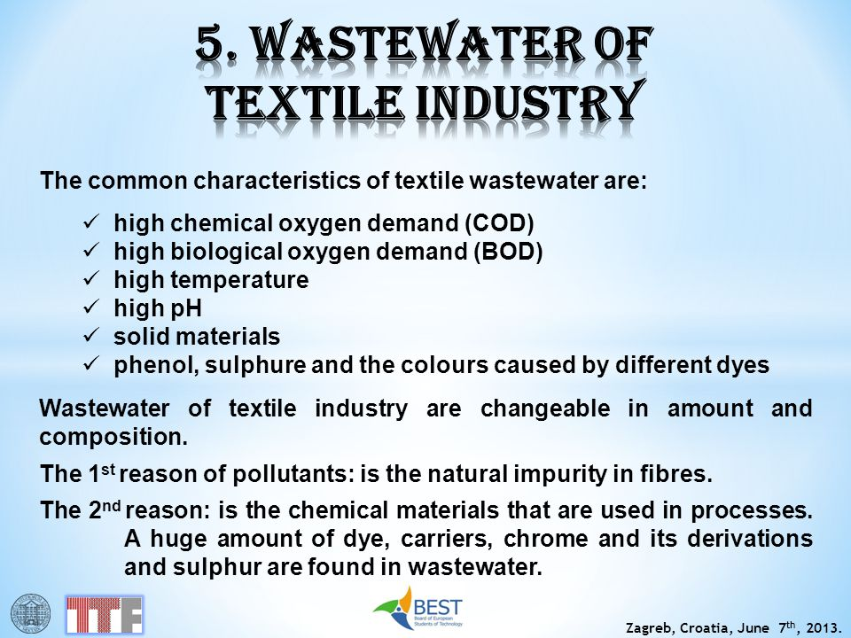 5. WASTEWATER OF TEXTILE INDUSTRY