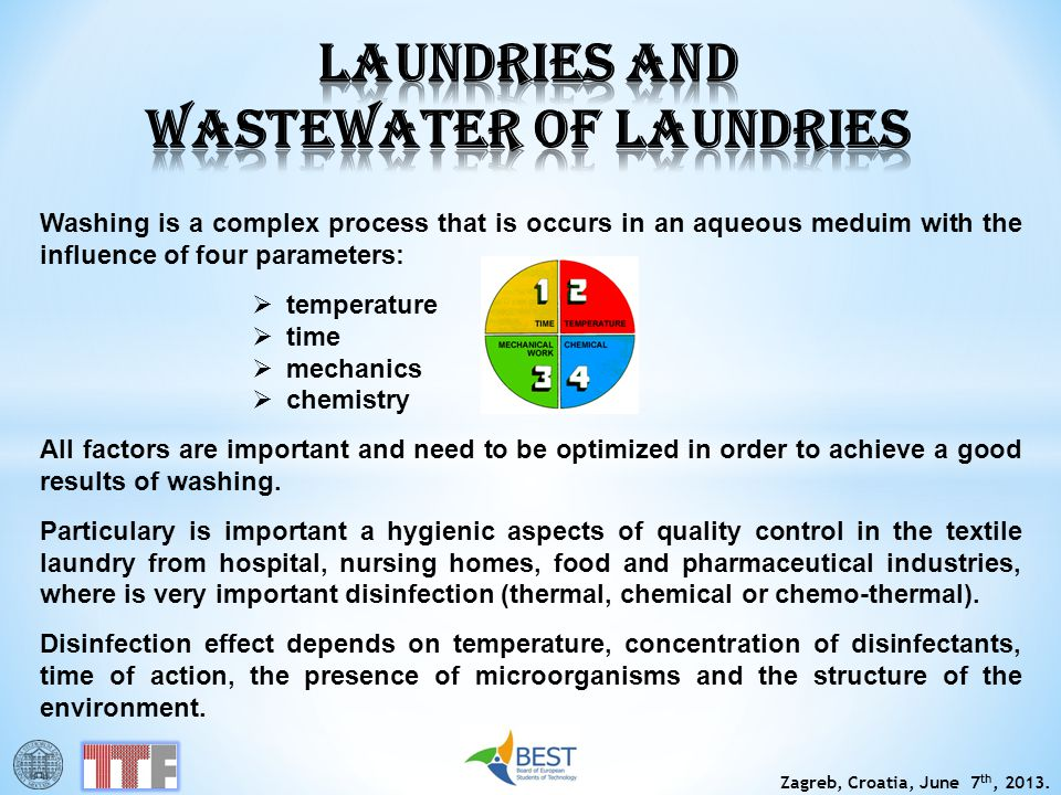 LAUNDRIES AND WASTEWATER OF LAUNDRIES