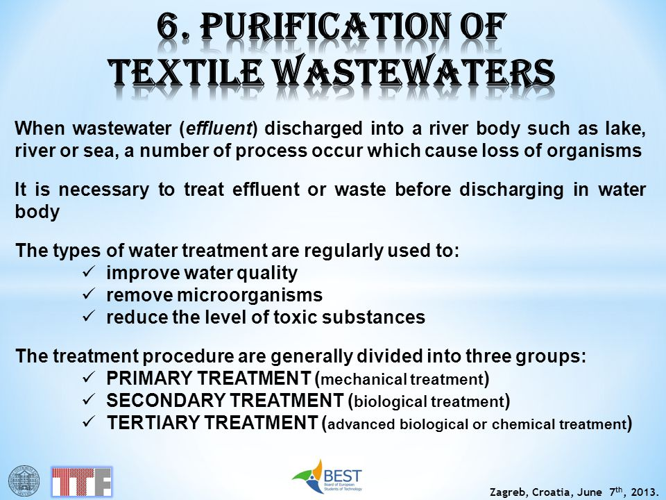 6. PURIFICATION OF TEXTILE WASTEWATERS