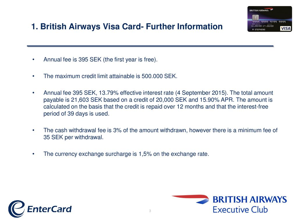 British Airways Visa Card Ppt