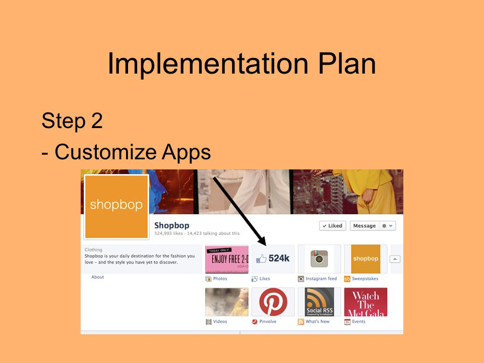 Implementation Plan Step 2 - Customize Apps