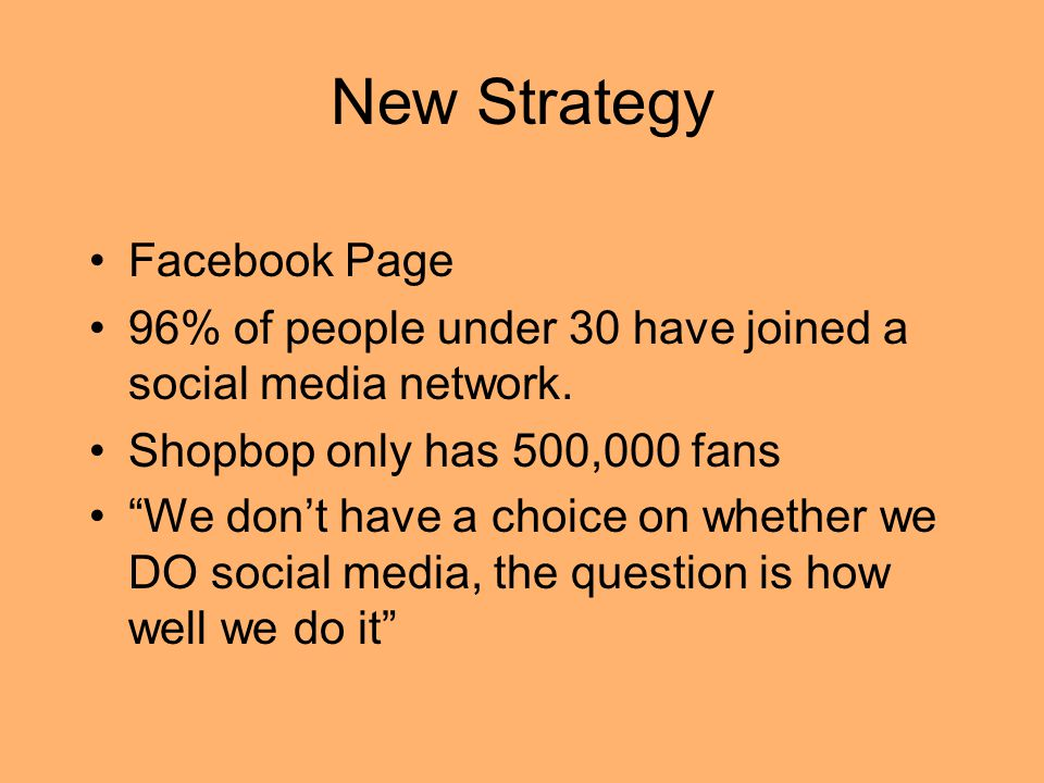 New Strategy Facebook Page