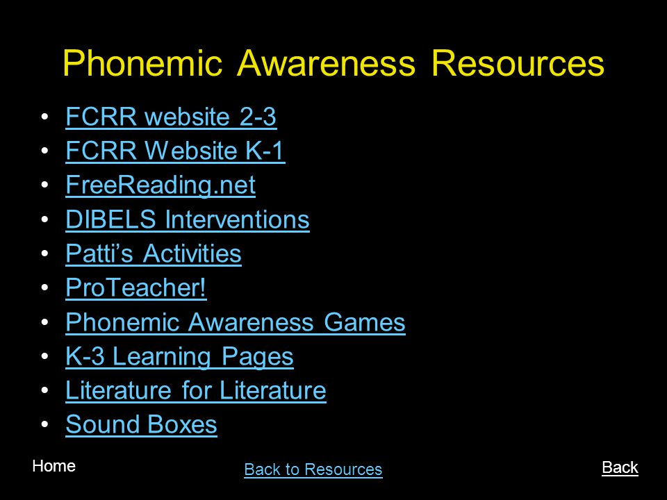 Phonemic Awareness Resources