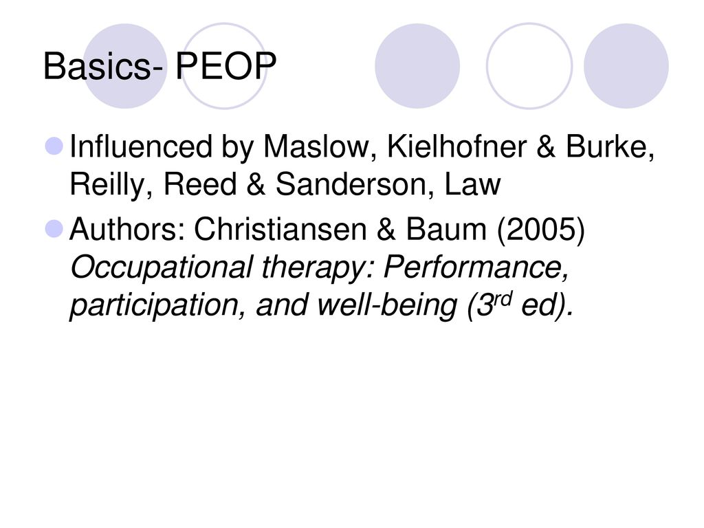 Person Environment Occupation Ppt Download This page is about the meanings of the acronym/abbreviation/shorthand peop in the miscellaneous field in general and in the unclassified terminology in particular. person environment occupation ppt