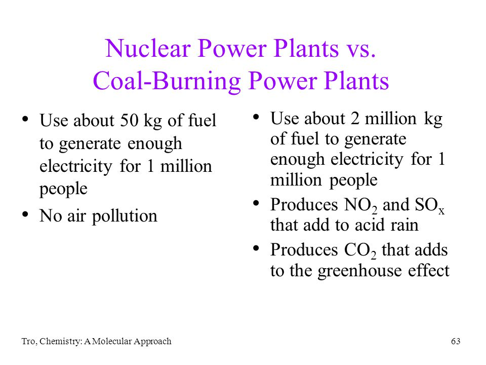 Nuclear Power Plants vs. Coal-Burning Power Plants