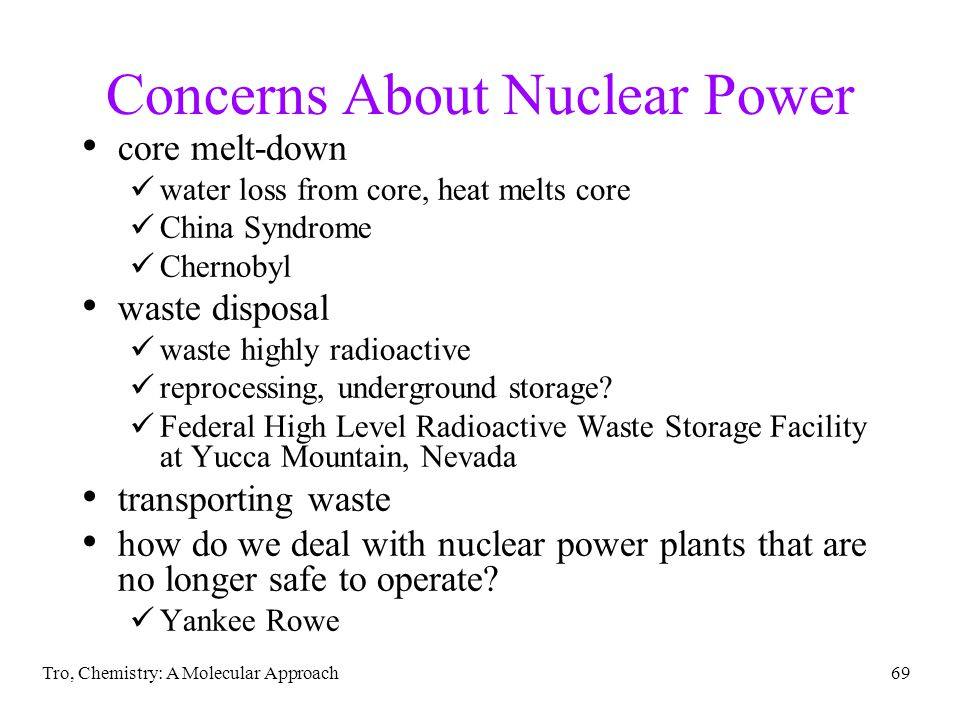 Concerns About Nuclear Power