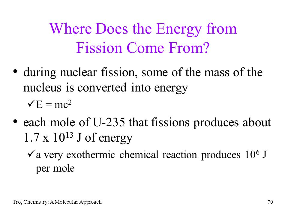 Where Does the Energy from Fission Come From