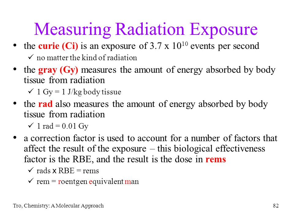 Measuring Radiation Exposure