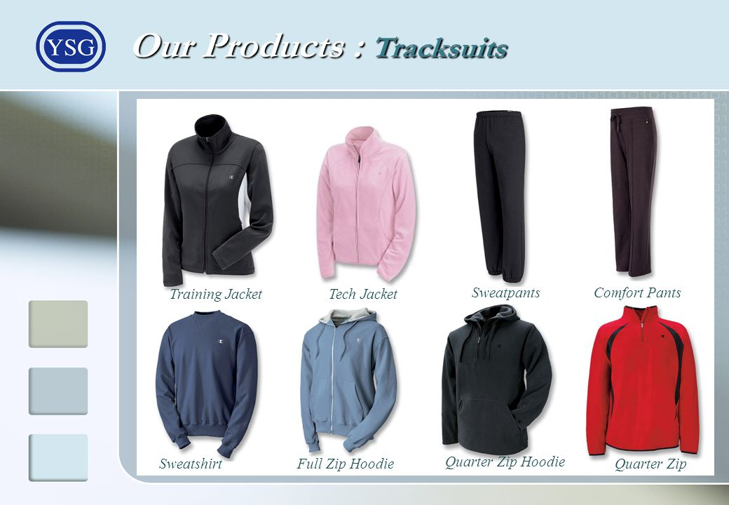 Our Products : Tracksuits