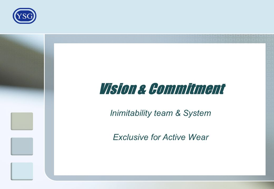 Vision & Commitment Inimitability team & System