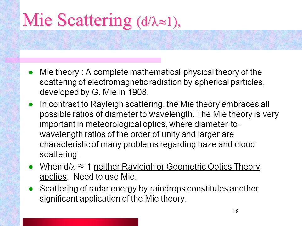 Mie Scattering (d/l1),