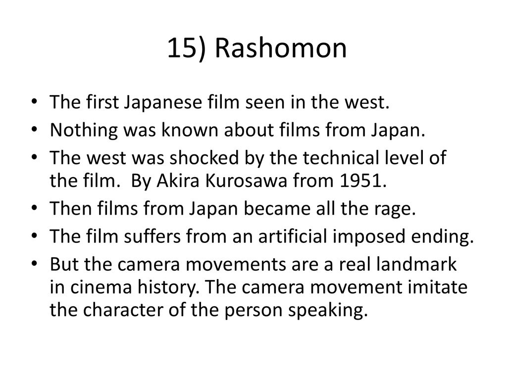 50 FILMS THAT CHANGED CINEMA - ppt download