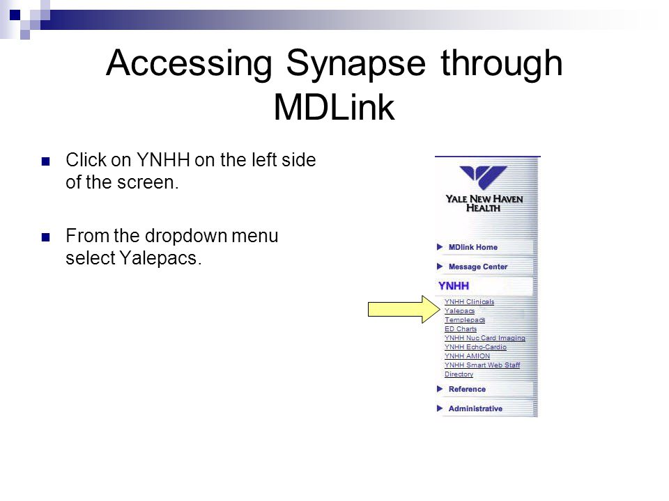 Accessing Synapse through MDLink