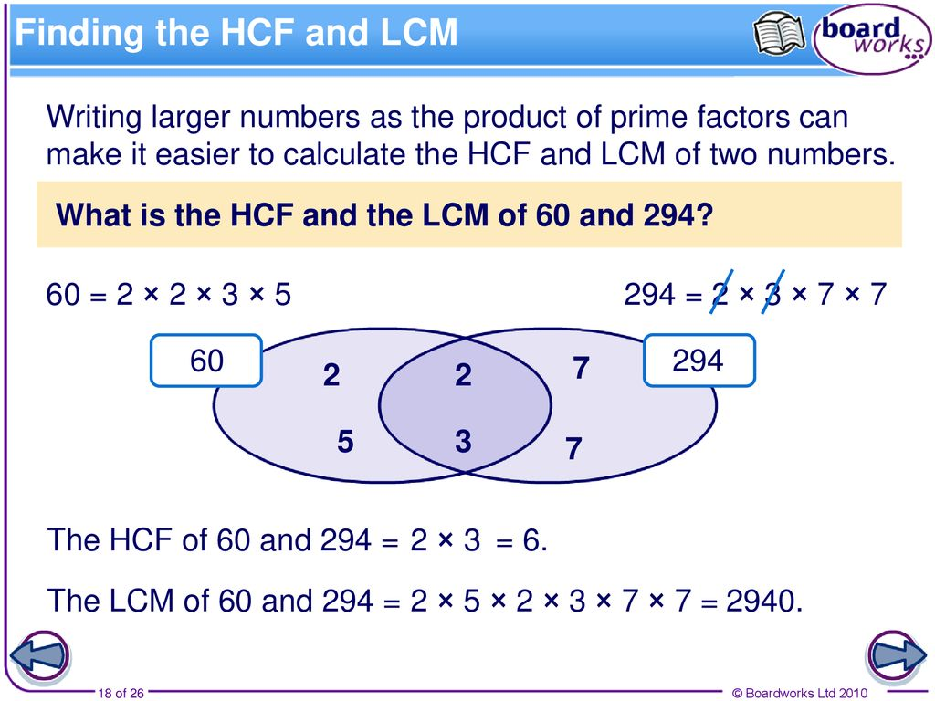 The lowest common multiple The lowest common multiple (or LCM) of ...