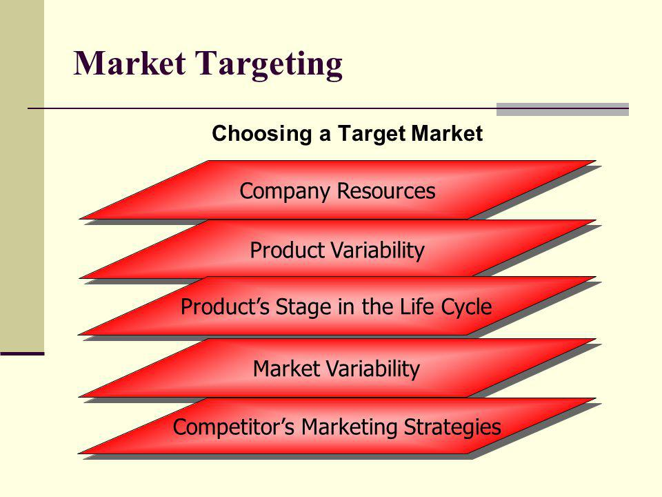 Market Targeting Choosing a Target Market Company Resources