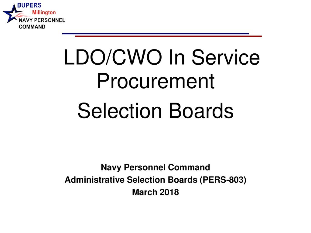 Navy Personnel Command Administrative Selection Boards (PERS