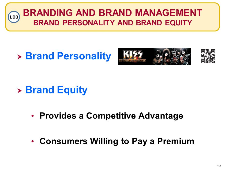 BRANDING AND BRAND MANAGEMENT BRAND PERSONALITY AND BRAND EQUITY