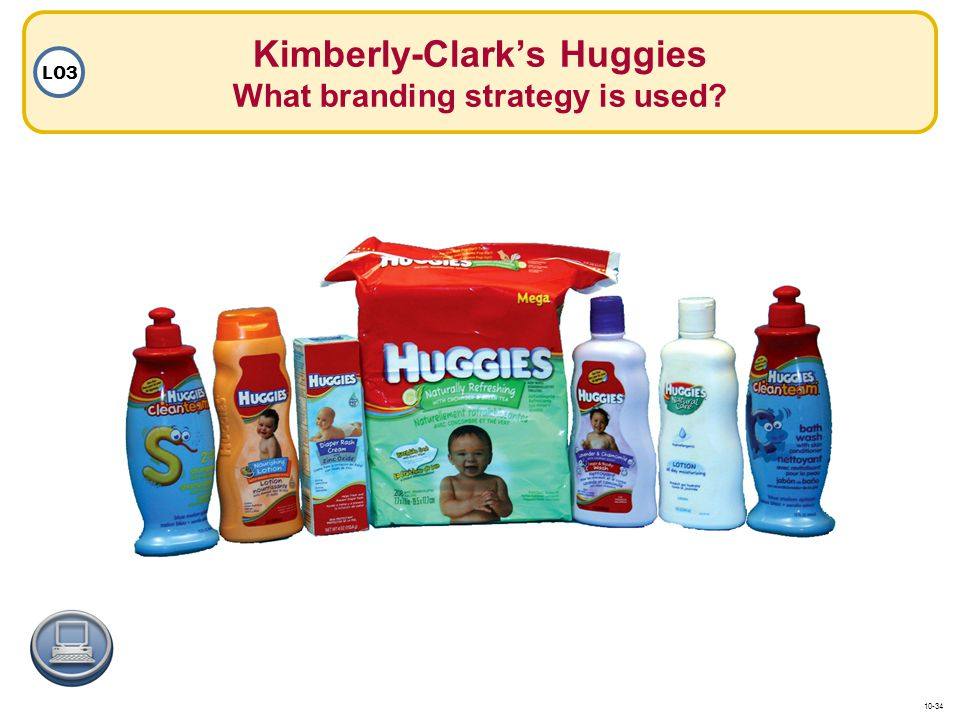 Kimberly-Clark's Huggies What branding strategy is used